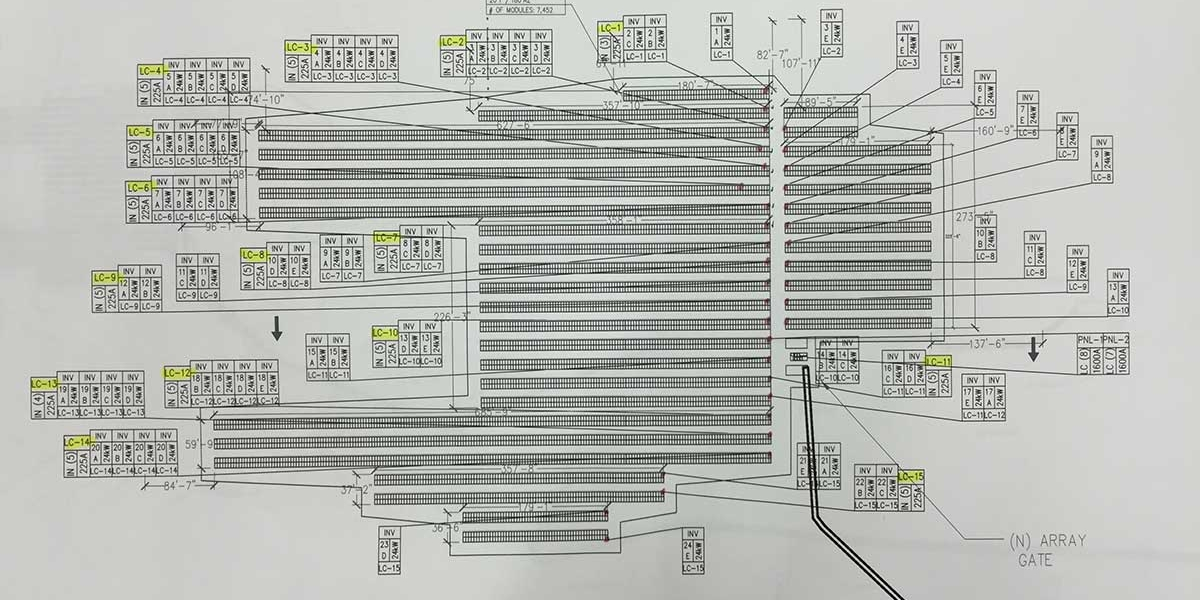 Hampshire College photovoltaic project drawings